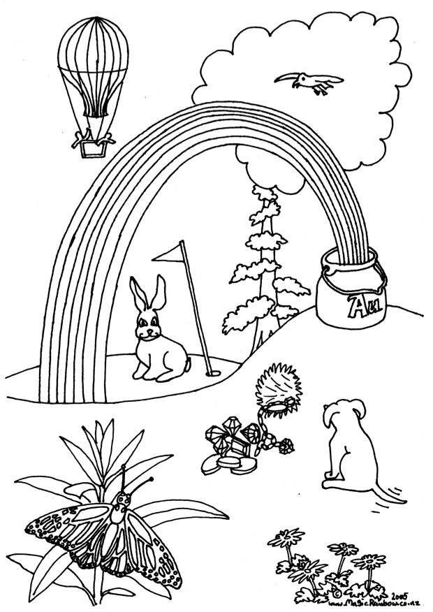 rainbow magic coloring pages - colouring in pages magic rainbow
